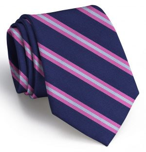 Berkshire: Extra Long - Navy/Pink