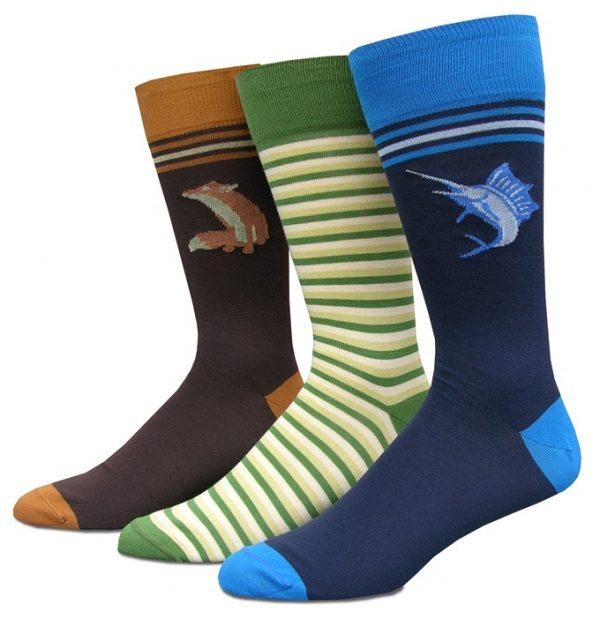 Pink Elephants: Socks - Mid Blue
