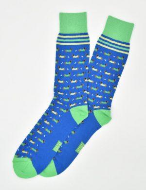 Dachshund Dash: Socks - Blue
