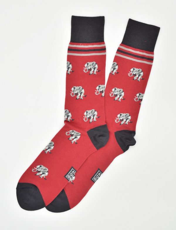 Elephant Stampede: Socks - Red