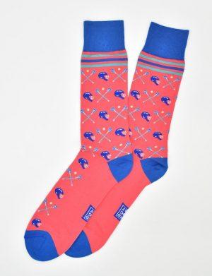 Lacrosse Check: Socks - Coral