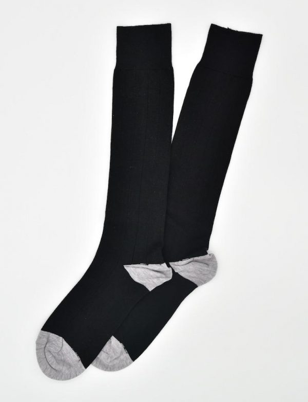Pedigree Over the Calf Solid: Socks - Black
