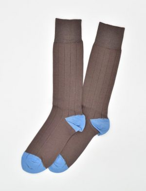 Pedigree Mid-Calf Solid: Socks - Brown