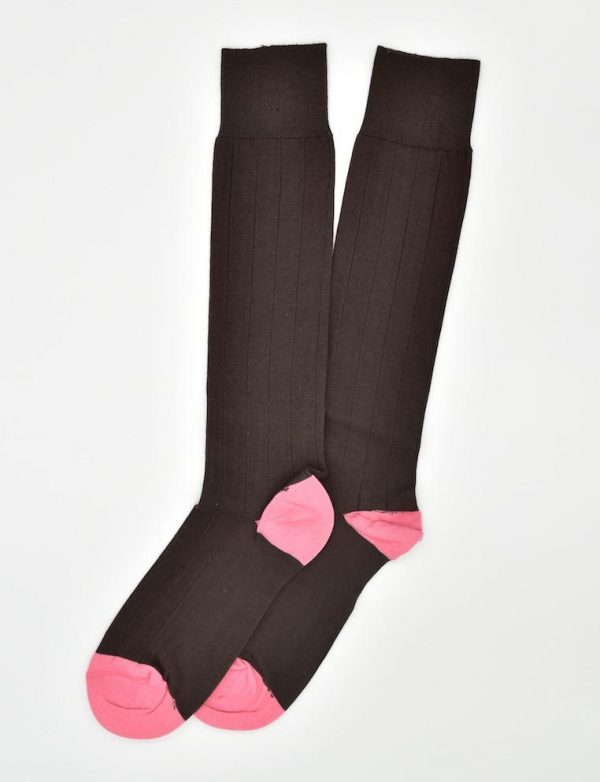 Pedigree Over the Calf Solid: Socks - Brown