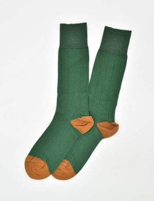 Pedigree Mid-Calf Solid: Socks - Green
