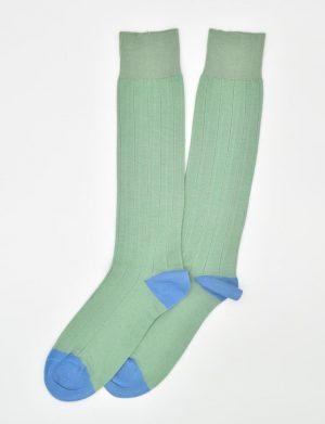 Pedigree Over the Calf Solid: Socks - Mint