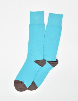 Pedigree Mid-Calf Solid: Socks - Turquoise