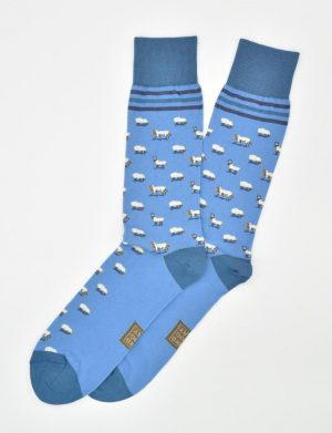 Wolf in Sheep's Clothing: Socks - Blue