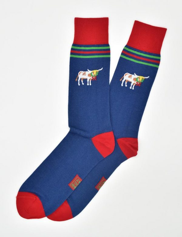 Christmas Cattle: Socks - Navy