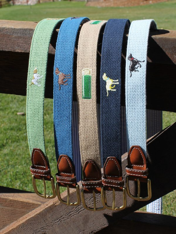 Sunday Drive: Embroidered Belt - Navy