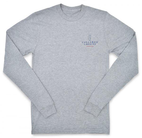 Bald Eagle: Long Sleeve T-Shirt - Gray