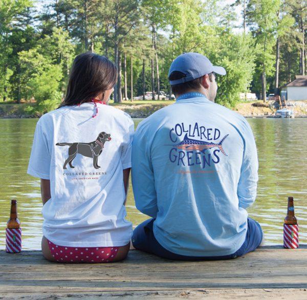 Trout Flag: Long Sleeve T-Shirt - Carolina