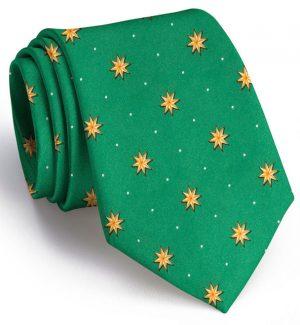 Starry Night: Tie - Green
