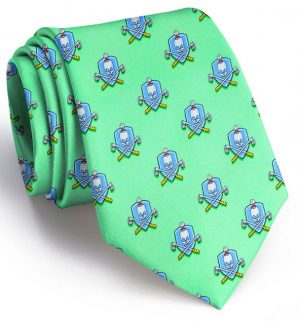 Skull & Cross-Clubs: Tie - Mint