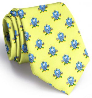 Skull & Cross-Clubs: Tie - Yellow
