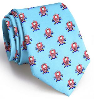 Skull & Cross-Clubs: Tie - Blue