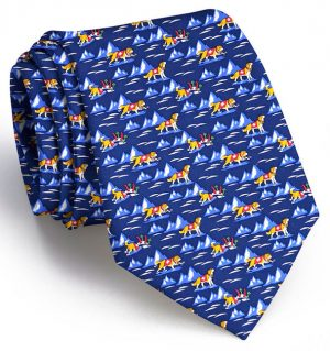 Back Bowl Bernards: Tie - Navy