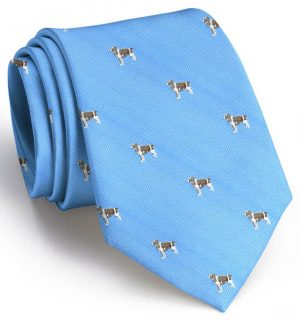 Springer Spaniel: Tie - Light Blue