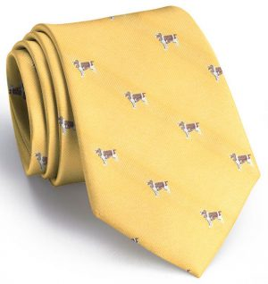 Springer Spaniel: Tie - Yellow
