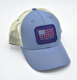 Trout Flag: Trucker Cap - Shoal Blue