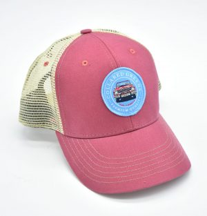 Vintage Bronco: Trucker Cap - Port Side Red