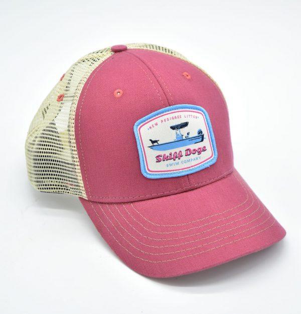 Skiff Dogs Logo: Trucker Cap - Port Side Red