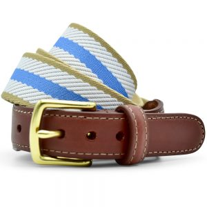Dockside: Belt - Light Blue/White/Tan