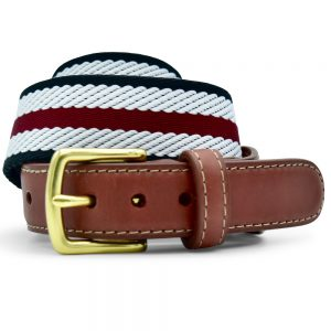 Dockside: Belt - Maroon/White/Black