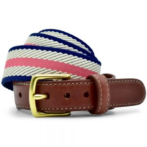 Dockside: Belt - Coral/Ivory/Navy