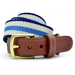 Dockside: Belt - Blue/Ivory/Navy