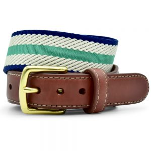 Dockside: Belt - Mint/Ivory/Navy