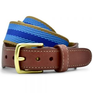 Dockside: Belt - Navy/Light Blue/Tan