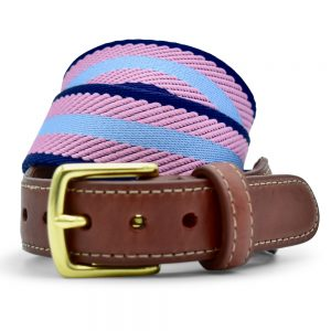 Dockside: Belt - Light Blue/Pink/Navy