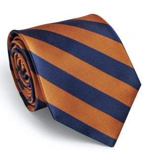 Dulles: Tie - Orange/Navy
