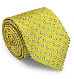 Premiere Paisley: Tie - Yellow