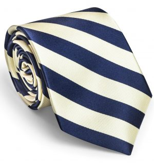 Chester: Tie - Royal Blue/White