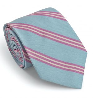 Stafford: Tie - Light Blue/Pink