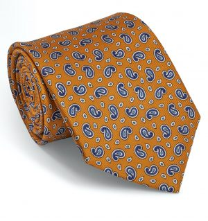 Pawleys Paisley: Tie - Orange