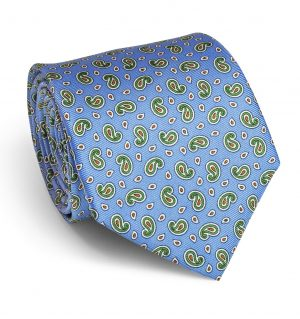 Pawleys Paisley: Tie - Light Blue