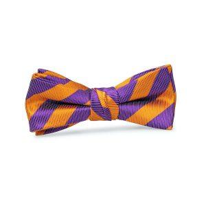 Collegiate: Boys Bow Tie - Orange/Purple