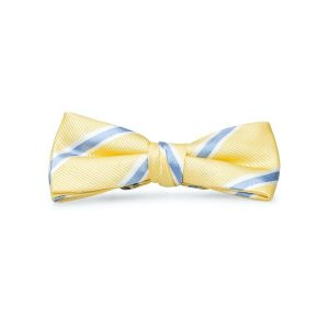 James: Boys Bow Tie - Yellow/Blue