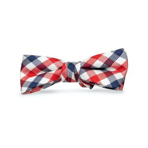 Collegiate Quad: Boys Bow Tie - Navy/Red