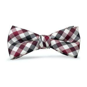Collegiate Quad: Boys Bow Tie - Garnet/Black