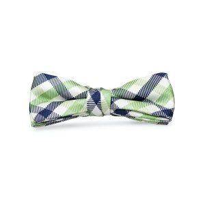 Collegiate Quad: Boys Bow Tie - Navy/Green