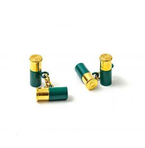 12 Gauge Cufflinks - Green