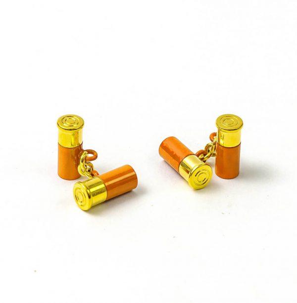 12 Gauge Cufflinks - Orange