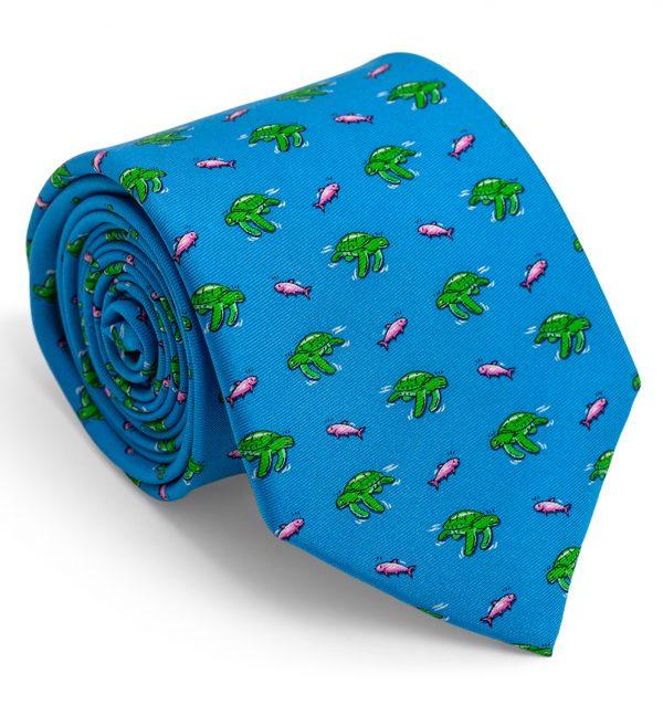 Sea Turtle Surpise: Tie - Blue