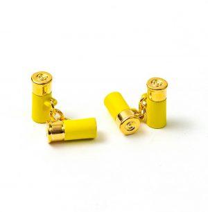 12 Gauge Cufflinks - Yellow
