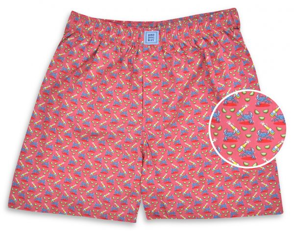 Drunken Crab: Boxers - Coral