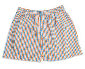 Gingham: Boxers - Blue/Orange